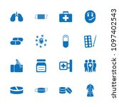 illness icon. collection of 16... | Shutterstock .eps vector #1097402543
