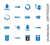 load icon. collection of 16... | Shutterstock .eps vector #1097403224