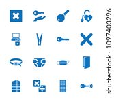close icon. collection of 16...   Shutterstock .eps vector #1097403296