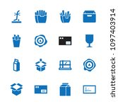 carton icon. collection of 16... | Shutterstock .eps vector #1097403914