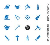 carpentry icon. collection of... | Shutterstock .eps vector #1097404040