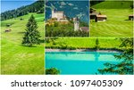 collage of tourist photos of... | Shutterstock . vector #1097405309