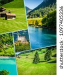 collage of tourist photos of... | Shutterstock . vector #1097405336