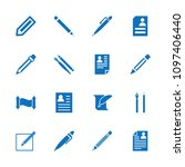 write icon. collection of 16... | Shutterstock .eps vector #1097406440