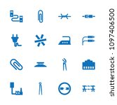 wire icon. collection of 16... | Shutterstock .eps vector #1097406500