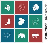 wildlife icon. collection of 9... | Shutterstock .eps vector #1097406644