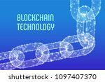 block chain. crypto currency.... | Shutterstock .eps vector #1097407370