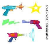 vintage ray gun arsenal   ray...   Shutterstock .eps vector #109741979