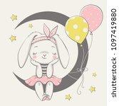vector illustration of a cute... | Shutterstock .eps vector #1097419880