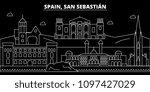 san sebastian silhouette... | Shutterstock .eps vector #1097427029