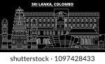 colombo silhouette skyline. sri ...   Shutterstock .eps vector #1097428433