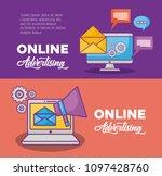 online marketing design | Shutterstock .eps vector #1097428760