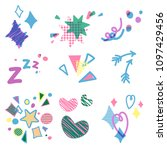 set of birthday party... | Shutterstock .eps vector #1097429456