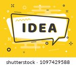 """""""idea' quick tips badge with...   Shutterstock .eps vector #1097429588"""