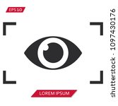 viewfinder eye vector icon... | Shutterstock .eps vector #1097430176