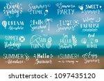 hand drawn set of lettering... | Shutterstock .eps vector #1097435120