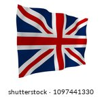 waving flag of the great... | Shutterstock . vector #1097441330