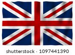 waving flag of the great... | Shutterstock . vector #1097441390