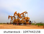 the oil pump  industrial... | Shutterstock . vector #1097442158
