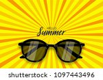 hello summer time. vector pop...   Shutterstock .eps vector #1097443496
