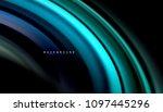 abstract wave lines fluid... | Shutterstock .eps vector #1097445296
