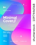 minimal cover design with...   Shutterstock .eps vector #1097446568