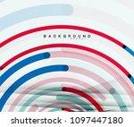 circular lines circles ... | Shutterstock .eps vector #1097447180