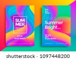 summer bright party poster.... | Shutterstock .eps vector #1097448200