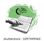 ramadan mubarak free hand... | Shutterstock .eps vector #1097449463