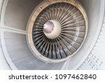 turbine blades   close up | Shutterstock . vector #1097462840