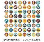 holiday icons collection | Shutterstock .eps vector #1097463296