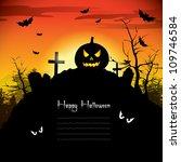 halloween background | Shutterstock .eps vector #109746584