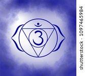 sixth  third eye chakra   ajna. ... | Shutterstock .eps vector #1097465984