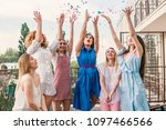 girls party. beautiful women... | Shutterstock . vector #1097466566