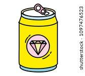 color cold soda can calories... | Shutterstock .eps vector #1097476523