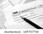 filing federal income tax return | Shutterstock . vector #109747754