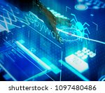 new technology information on a ... | Shutterstock . vector #1097480486