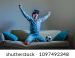 young happy and excited gamer... | Shutterstock . vector #1097492348