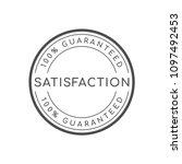 100  satisfaction guaranteed... | Shutterstock .eps vector #1097492453