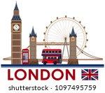 london landmark on white... | Shutterstock .eps vector #1097495759