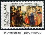 new zealand   circa 1984  post... | Shutterstock . vector #1097495930