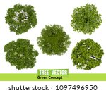 trees top view for landscape... | Shutterstock .eps vector #1097496950