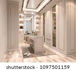 interior walk in closet  simple ... | Shutterstock . vector #1097501159