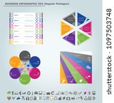 vector infographic template ... | Shutterstock .eps vector #1097503748