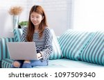 beautiful of portrait young... | Shutterstock . vector #1097509340