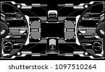 hud futuristic elements data... | Shutterstock .eps vector #1097510264