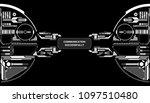 hud futuristic elements data... | Shutterstock .eps vector #1097510480
