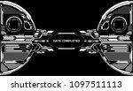 hud futuristic elements data... | Shutterstock .eps vector #1097511113
