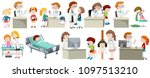 a set of doctor and kid... | Shutterstock .eps vector #1097513210