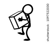 stick figure lifting and... | Shutterstock .eps vector #1097522030
